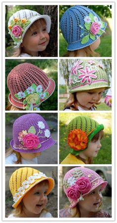 Hilaria crochet projects: Wonderful DIY Summer Crochet Panama Hats Free Patt...
