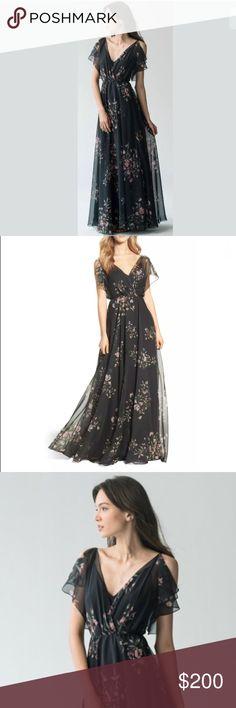 903f6d42eade2 Jenny Yoo Cassie Flutter Sleeve Eden Bouquet Dress NWOT, never worn, Size 6.