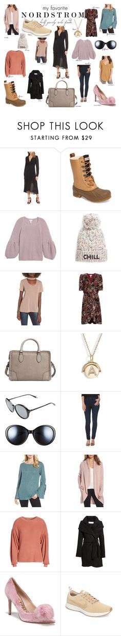 """2018 fav. Nordstrom half yearly sale finds"" by alyssa-l-esposito on Polyvore featuring Astr, Hunter, Leith, Bow & Drape, Lush, Rebecca Minkoff, Lulu DK, Victoria Beckham, Paige Denim and Caslon"