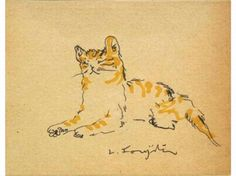 Artists and Kitties — Tsuguharu Fugita Mike, pen and ink