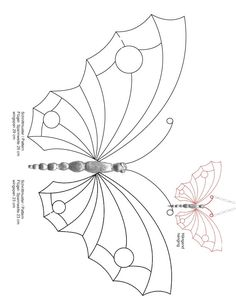 Stained Glass Patterns for FREE 992 Butterfly.jpg