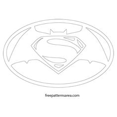 Batman vs Superman Sign Logo Cutting Pattern