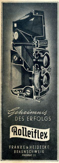 Werbeanzeige für die Rolleiflex Kamera, 1951