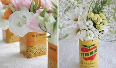 Use Tins for Creative Flower Displays
