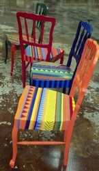 Colorful Furniture - Hand Painted Chairs www.LindseyShevkun.com