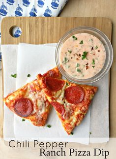 An easy to throw together, fresh dip for pizza! Spicy & creamy. #preparetoparty #ad