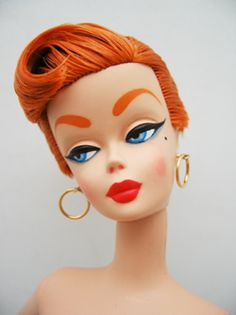 • makeup retro barbie dolls doll barbies repaints one of a kind no you can't buy these at a store vintagegal •