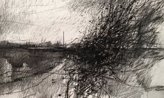 Artist: Paul Fowler Daily painting no. 323, ' Marsh Road Oare...' pencil/ink