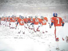 When it snows in Denver this Bronco game comes to mind!