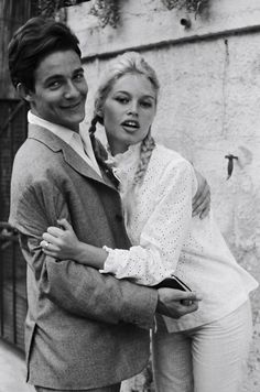 Brigitte Bardot and Jacques Charrier.In she married actor Jacques Charrier, with whom she starred in Babette Goes to War. The press took great interest in her marriage, while she and her husband clashed over the direction of her career. Bridgitte Bardot, Jacques Charrier, Paris, And God Created Woman, Alain Delon, French Actress, Saint Tropez, The Bikini, Audrey Hepburn