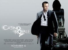 Bond's biggest fans around the world have been voting for their favourite James Bond film. And there is one clear worldwide winner: CASINO ROYALE, the 2006 box office hit, and Daniel Craig's first outing as James Bond. All James Bond Movies, James Bond Quotes, James Bond Movie Posters, Cinema Posters, Film Posters, Tim Burton, Films Western, Westerns, Casino Royale Movie