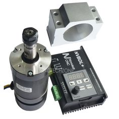 This brushless driver is with hall. It can be used to engrave metal or non-metal and other materials. Driver: 2) DSP main control module 3) No current passing when no movement 4) Voltage range 24VDC-60VDC 5) Demountable panel 6) Maximum driver power 600W  Motor: Power: 400W Input Voltage: 48V Rotating speed: 1200 R/Min Torque: 0.45 N.m Insulation resistance: > 2ohms Dielectric strength: 400V Diameter: 55mm