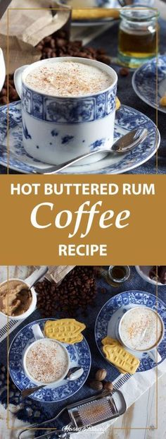 Warm & Cozy Buttered Rum Coffee Recipe is part of Warm Definition Of Warm By Merriam Webster - This hot buttered rum coffee recipe is a rich and creamy treat made with butter, coffee, and spiked with a little (or a lot) of the holiday spirit Cheers! Rum Recipes, Coffee Recipes, Pizza Recipes, Keto Recipes, Healthy Recipes, Cocoa Recipes, Dinner Recipes, Healthy Cooking, Deserts