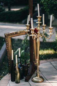 Пленительный цвет Марсала, рамка и подсвечники - The-wedding.ru