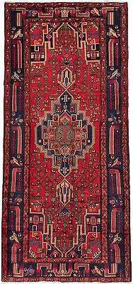 "SHIPS CANADA ONLY-Hand-knotted Persian 4'9"" x 10'0"" Nahavand Red Wool Rug"