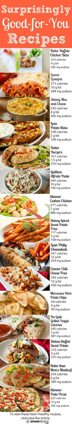 Heart-Healthy Comfort Food Swaps | SparkPeople - favourite dishes with reduced calorie and fat amount