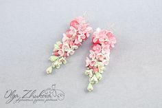 Earrings with flowers from polymer clay by polyflowers on DeviantArt