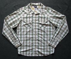 PATAGONIA MENS S PLAID ORGANIC COTTON GOOD SHIRT 52251 #PATAGONIA #ButtonFront