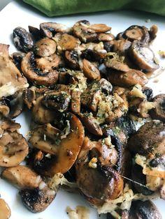 Parmesan Garlic Roasted Mushrooms - Mmmm. So simple. So yummy.