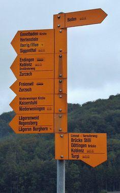 Swiss Hiking Trail Signage