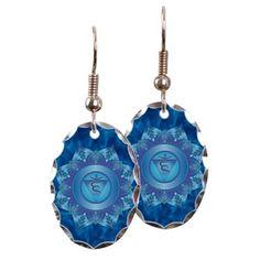Throat Chakra Earrings