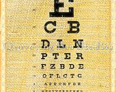Vintage Eye Chart Digital Download