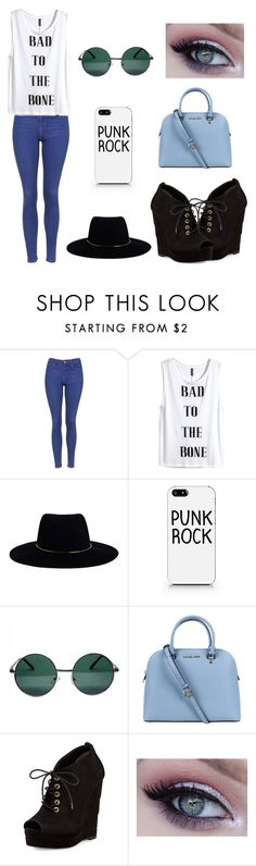 """""""   """" by summertastic101 ❤ liked on Polyvore featuring Topshop, H&M, Zimmermann, YHF, Michael Kors and Diane Von Furstenberg"""