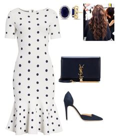 """Untitled #763"" by lovelifesdreams on Polyvore featuring Milly, Rupert Sanderson, Yves Saint Laurent and Allurez"