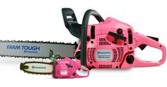 Enter To Win A FREE Pink Husqvarna Chainsaw — No Purchase Necessary! Each Entry Raises Funds For Mammograms | The Breast Cancer Site Blog