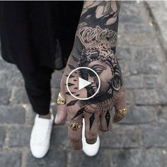 Tattoo | Tattoo | Man | Hand | boy | man | hand | hot | tattoo | Guy | Men's Territory #handtattoos Hot Tattoos, Tattoos For Guys, Rihanna Hand Tattoo, Side Hand Tattoos, Male Hands, Black And Grey, Tattoo Man, Portrait, Boys