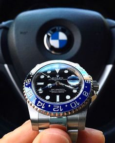 Good Morning 116710 BLNR Rolex GMT Master II Matches perfectly with a @BMW ! You agree? By: @fly_lpp by thewatchlovers #rolex #submariner