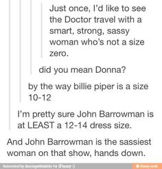 John Barrowman, sassiest woman on Doctor Who.