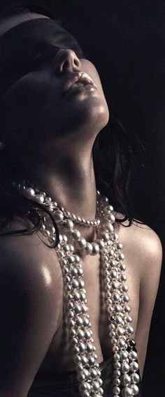 Exquisite Pearls And Blindfold