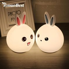 USB Rechargeable Silicone Rabbit Shape Bunny LED Table Lamp – house and arena Cute Night Lights, Led Night Light, Perfect Christmas Gifts, Kids Christmas, Lead Acid Battery, Bedroom Lighting, Kawaii, Light Colors, Kids Bedroom