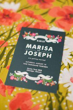 Minted wedding invitations // photo by Kate Romenesko // http://ruffledblog.com/chicago-day-dead-wedding