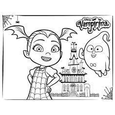 Disney Junior Vampirina Digital Embroidery Machine Sketch