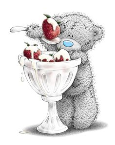 ✿•*¨`*•.¸.•*¨`*•✿♥♥✿•*¨`*•.¸.•*¨`*•✿ Cute picture, I do love strawberries and cream