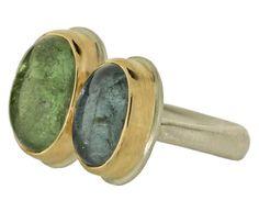 Jamie Joseph  Double Green and Blue Tourmaline Ring