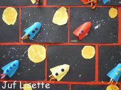 Ik hou van jou tot aan de maan en terug (met foto van kind op de raket)