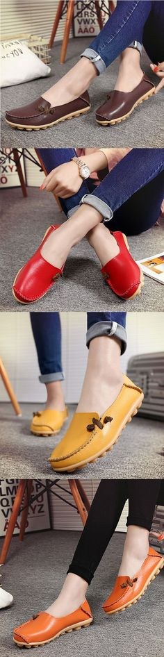 US$14.78 Big Size Soft Multi-Way Wearing Pure Color Flat Loafers_Women Lazy Shoes_Lazy Loafers For Woman