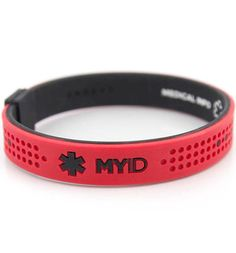 MyID Sport Red and Black Medical ID Bracelet (From $19.95) | This waterproof personal ID bracelet has three points of access on the back (scannable QR code with PIN, 24-hour call center number, and website) so that first responders can more quickly and effectively treat you in an emergency. Your onlline health profile is secure, accessible and easy to update both online and via the MyID™ free app!