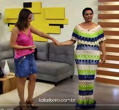Katia Ribeiro Moda e Decoração Handmade: Vestido Crochê