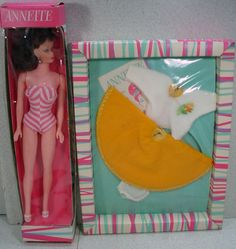 NRFB Barbie Clone Fashion Doll, Annette, With Extra Outfit, 1960's!