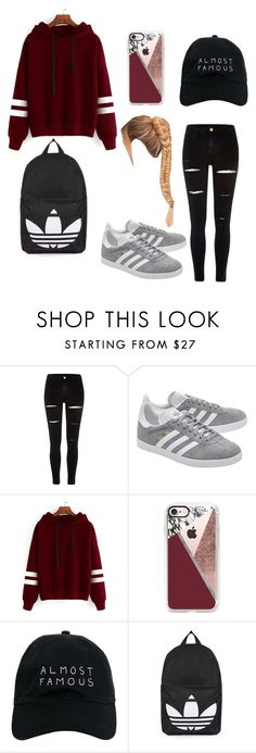 """Untitled #38"" by jodienolan13 ❤ liked on Polyvore featuring River Island, adidas Originals, Casetify, Nasaseasons and Topshop"