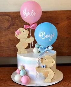 Baby Shower Cake Designs, Baby Shower Cakes Neutral, Idee Baby Shower, Torta Baby Shower, Unisex Baby Shower, Baby Cakes, Baby Reveal Cakes, Gender Party, Baby Gender Reveal Party