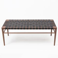 Shop SUITE NY for the WLB Woven Leather Bench by Mel Smilow for Smilow Furniture and more modern seating and walnut benches