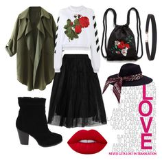 """LOVE"" by discoveringglam on Polyvore featuring Topshop, Off-White, Monki, Humble Chic and Lime Crime"