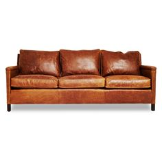 Beautiful Brown Leathe Sofa And Pillows With Wooden Frame For Best Worn Leather Couches Ideas / Furniture Amazing Leather Sofas Combine With... #LeatherSectionalSofas