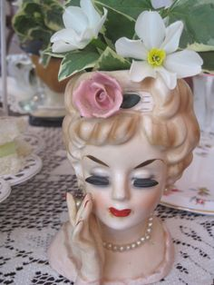 Lady Head Vase ... also have this in a box in my basement