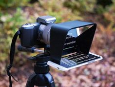 The Parrot is a compact teleprompter that fits over a DSLR lens. Lightweight, durable, and affordable, the Parrot is perfect for independent film makers.